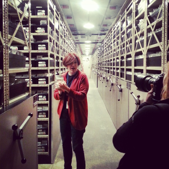 Inside the freezer vault at the National Center for Genetic Resources Preservation.